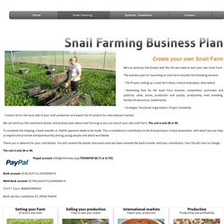 Snail Farming Business Plan