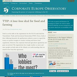 TTIP: A lose-lose deal for food and farming