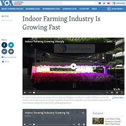 Indoor Farming Industry Is Growing Fast