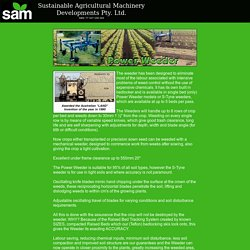 Use SAM's Bed Power Weeder in your Farming