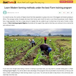 Learn Modern farming methods under the best Farm training program