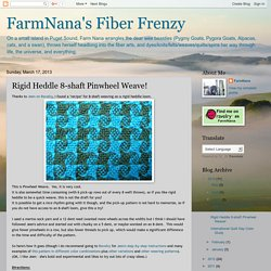 FarmNana's Fiber Frenzy: Rigid Heddle 8-shaft Pinwheel Weave!