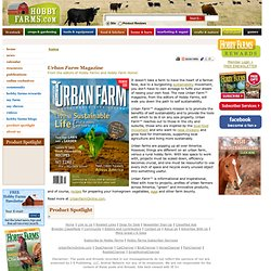 URBAN FARM™ Online - Sustainable City Living