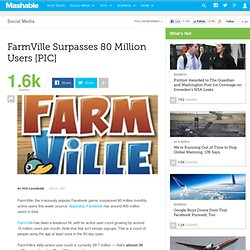 FarmVille Surpasses 80 Million Users [PIC]
