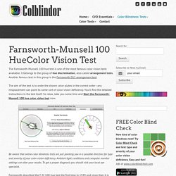Farnsworth-Munsell 100 HueColor Vision Test