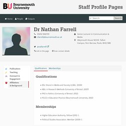 Dr Nathan Farrell - Bournemouth University Staff Profile Pages
