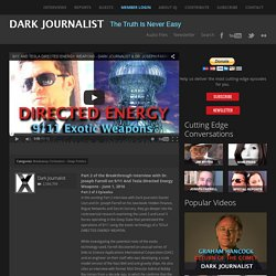 Dr. Joseph Farrell on 9/11 And Tesla Directed Energy Weapons - Dark Journalist