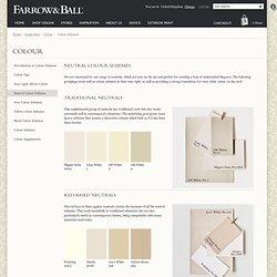 Farrow & Ball - Colour schemes