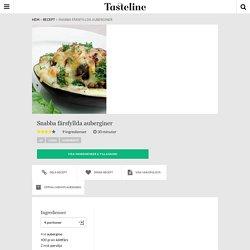 Snabba färsfyllda auberginer - Recept - Tasteline