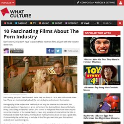 10 Fascinating Films About The Porn Industry