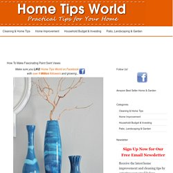 How To Make Fascinating Paint Swirl Vases