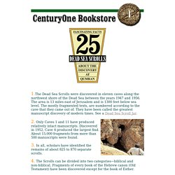 25 Fascinating Facts About the Dead Sea Scrolls @ Century One Bookstore
