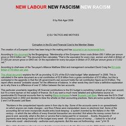 NEW LABOUR NEW FASCISM NEW RACISM - chapter 2 - EU tactics & motives