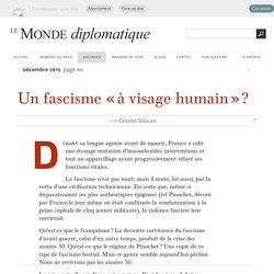 Un fascisme « à visage humain » ?, par Gérard Soulier (Le Monde diplomatique, décembre 1975)