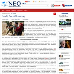 Israel's Fascist Democracy