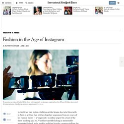 Fashion in the Age of Instagram