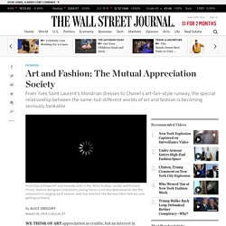 Art and Fashion: The Mutual Appreciation Society