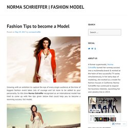 Fashion Tips to become a Model