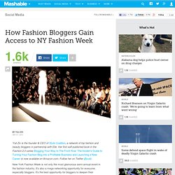How Fashion Bloggers Gain Access to NY Fashion Week