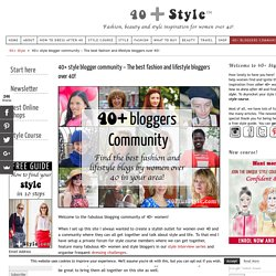 fashion bloggers and lifestyle blogs by women over 40