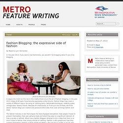 Fashion Blogging: the expressive side of fashion