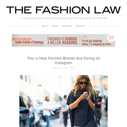 This is How Fashion Brands Are Faring on Instagram — The Fashion Law