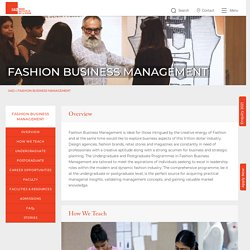 Undergraduate & Postgraduate Fashion Business Management Courses