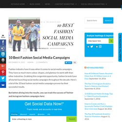 10 Best Fashion Social Media Campaigns - Keyhole Blog