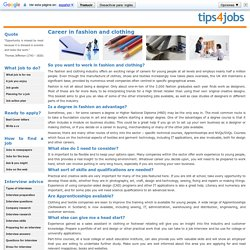 Career in fashion and clothing jobs description