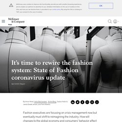 State of Fashion coronavirus update: Rewire the system