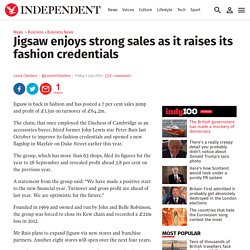 Jigsaw enjoys strong sales as it raises its fashion credentials