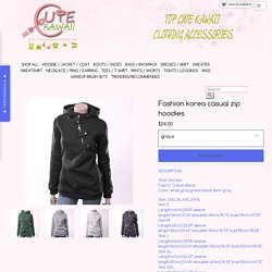 Fashion korea casual zip hoodies · Cute Kawaii {Cuteharajuku} · Online Store Powered by Storenvy