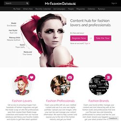 My Fashion Database - The largest online fashion database | MyFDB