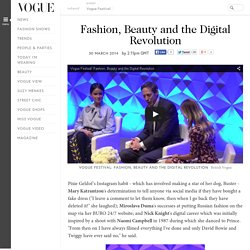 Fashion, Beauty and the Digital Revolution
