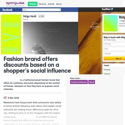 Fashion brand offers discounts based on a shopper's social influence