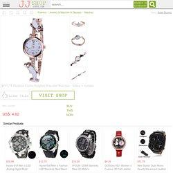 JW F271 Fashion Curve Dolphin Bracelet Watches - White + Golden at JJ SHOP