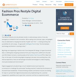 Fashion Pros Restyle Digital Ecommerce