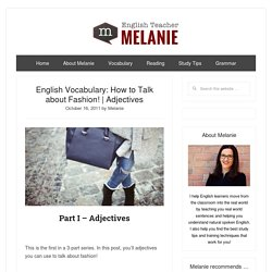 How to Talk about Fashion in English! (Adjectives)
