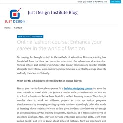 Online fashion course: Enhance your career in the world of fashion