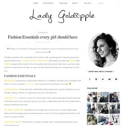 Fashion Essentials every girl should have