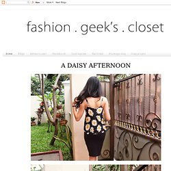 Fashion Geek's Closet