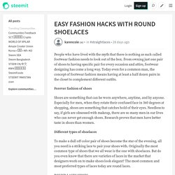 Easy Footwear Fashion Hacks with Round ShoeLaces