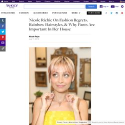 Nicole Richie On Fashion Regrets, Rainbow Hairstyles, & Why Pants Are Important In Her House