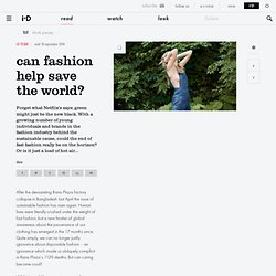 can fashion help save the world?