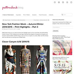 PatternbankNew York FW – Autumn/Winter 2014/2015