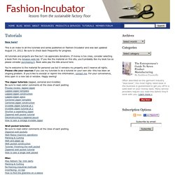 Fashion Incubator » Tutorials