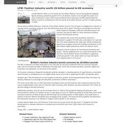 LFW: Fashion industry worth 26 billion pound to UK economy