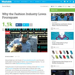 Why the Fashion Industry Loves Foursquare