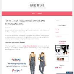 For the Fashion-Focused Women-Jumpsuit Jeans with Impeccable Style – Jeans Trend