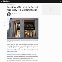 Fashion's Dirty Little Secret And How It's Coming Clean